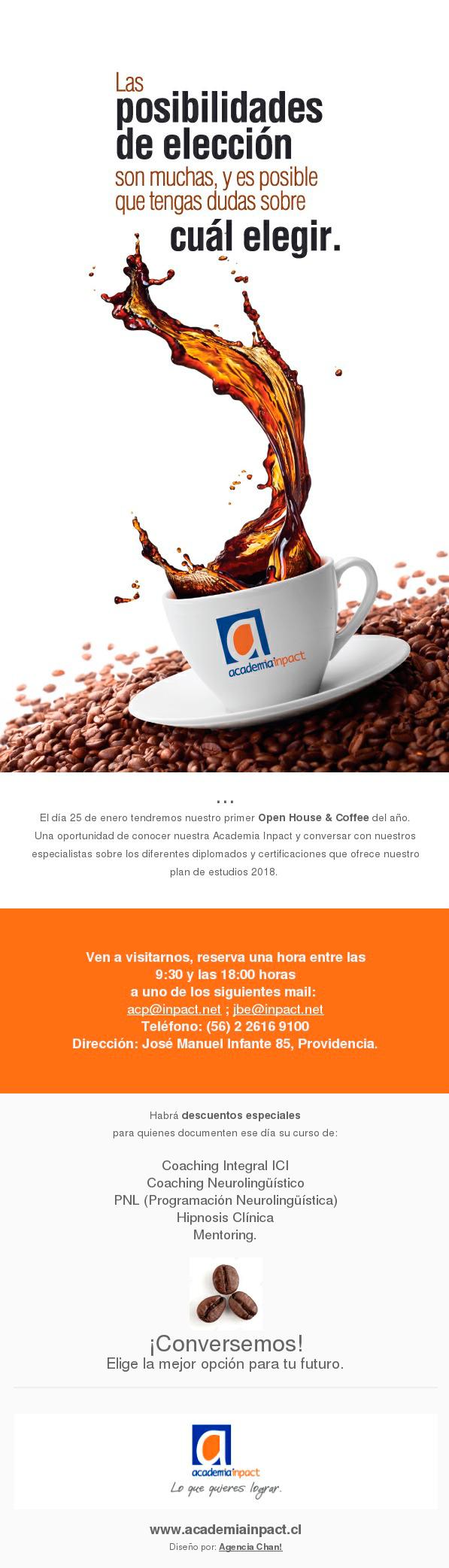 Open House & Coffee en Academia Inpact
